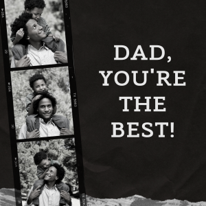 Black and White Collage Father  Dad Appreciation Instagram Post